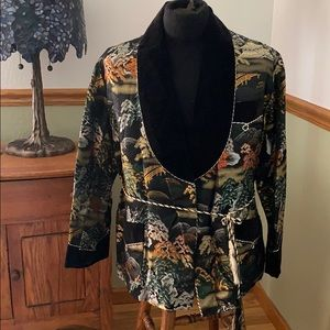 Other - Vintage silk embroidered men's smoking jacket